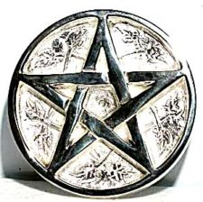 silver plated pentacle altar tile