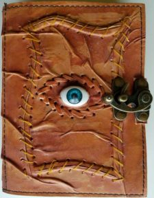 All Seeing Eye Leather Blank Book of Shadows