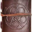 Small Chord Pentagram Leather Blank Book of Shadows