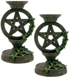 Pentagram Taper Candle Holders