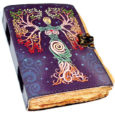 Aged Goddess Blank Leather Book of Shadows