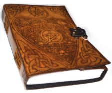 Ouija Heart Blank Leather Book of Shadows