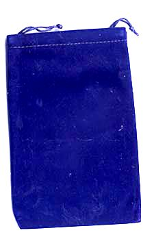 blue velveteen bag 4 inch