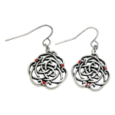 celtic knot ruby earrings