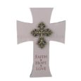 faith hope love cross wall plaque