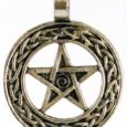 internal change pentagram necklace