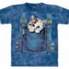 kitty overalls t shirt