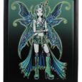 zoe fairy framed art tile